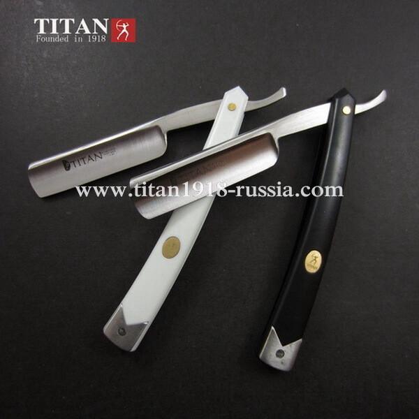 Опасная бритва TITAN - черный полистоун. Сталь клинка: Japan ACRM-2, 59-61 HRC