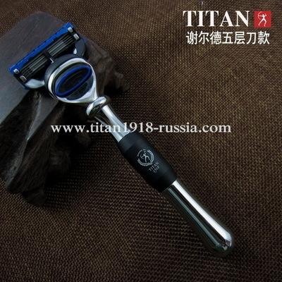 Классический бритвенный станок TITAN (Япония), Fusion 5 (Gillette fusion), медно-цинковый сплав