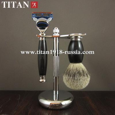 Классический бритвенный набор TITAN (Япония), Fusion 5 (Gillette fusion), черное африканское дерево