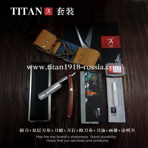 Классический бритвенный набор с опасной бритвой, TITAN (Япония): 12976829