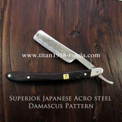 Профессиональная опасная бритва TITAN из Дамасской стали (Japan ACRO Damascus steel) и дерева Венге (Wenge): 12757378