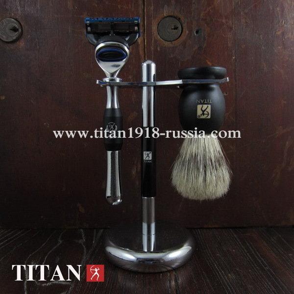 Классический бритвенный набор TITAN (Япония), Fusion 5 (Gillette fusion), медно-цинковый сплав