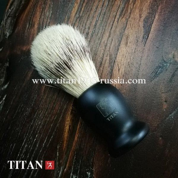 Помазок для бритья TITAN (Япония) натуральная щетина, ворс кабана