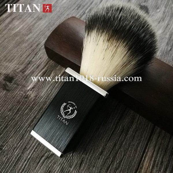 Помазок для бритья TITAN (Япония) искусственный ворс, металлическая рукоять
