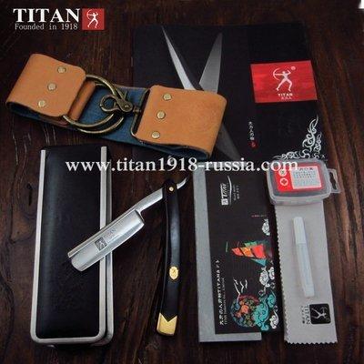 Классический бритвенный набор с опасной бритвой премиум класса (5 предметов), TITAN (Япония): 12957870