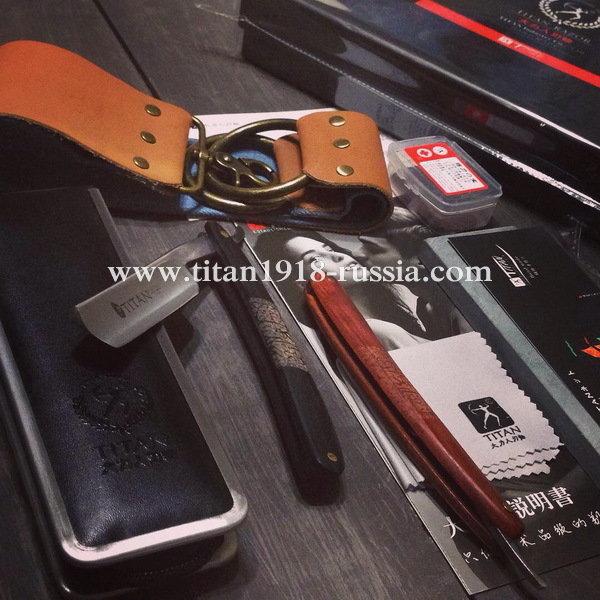 Классический бритвенный набор с опасной бритвой (5 предметов), TITAN (Япония): 12986829