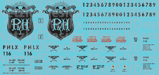 HO Scale - Parrish & Heimbecker (PHLX) Covered Hopper Decals