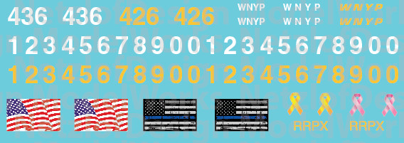 Western New York & Penna Locomotive Patch Out Set (WNYP)