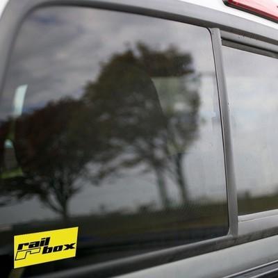 Vinyl Sticker - Railbox (Yellow/Black) Logo