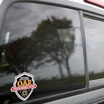 Vinyl Sticker - Norfolk Southern OAR (NS) Logo