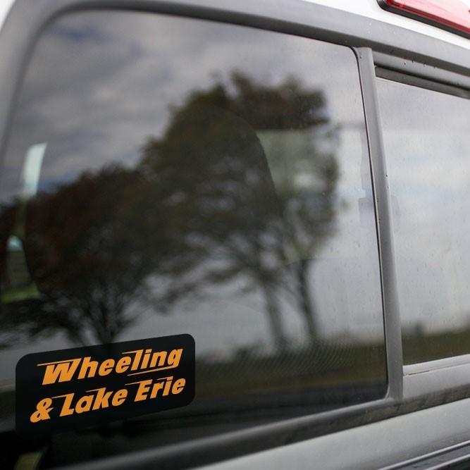 Vinyl Sticker - Wheeling and Lake Erie Railroad Speed Logo (WE)