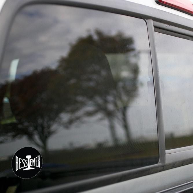 Vinyl Sticker - Bessemer and Lake Erie Logo (BLE) (Black/White)