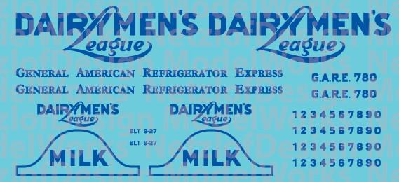 40' Reefer - Dairyman's League Decal Set