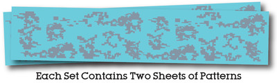 Digital Camo Patches Decal Set