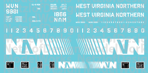West Virginian Northern Box Car (WVN) - White Lettering