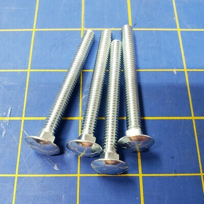 Leveling Screws for T-Trak - Steel Carriage Bolts (Qty 4)