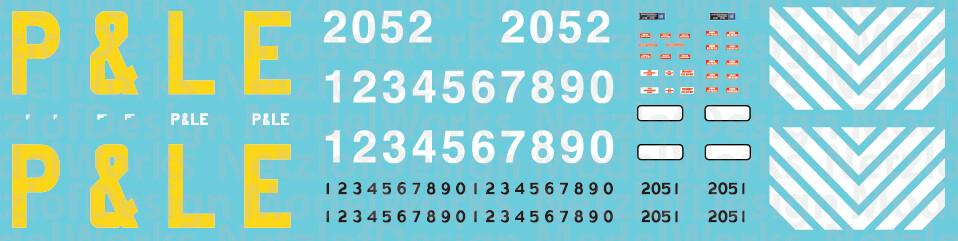 N Scale - Pittsburgh & Lake Erie GP38-2s (Big Logo)