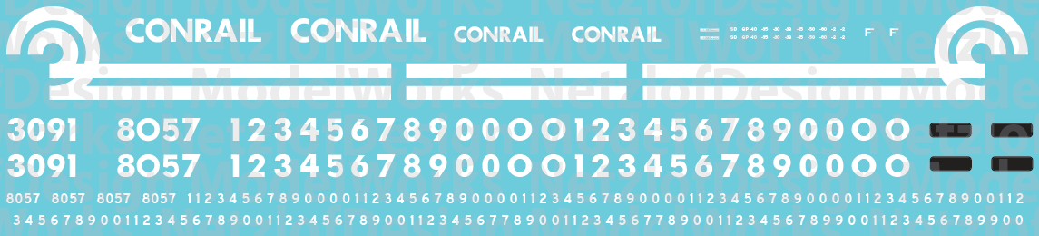 Conrail EMD Hood Unit (76-91) Decal Set