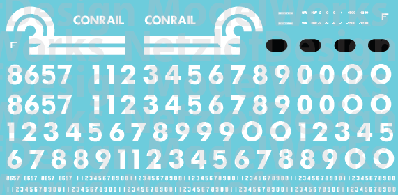 Conrail EMD Switcher (76-91) Decal Set
