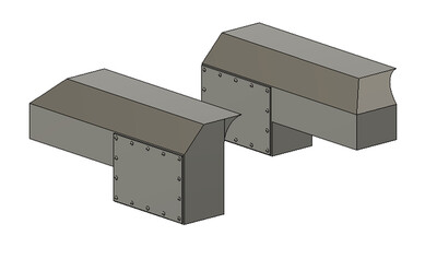 N Scale Train Parts - Dynacell Air Filter (Qty 2 Pair)