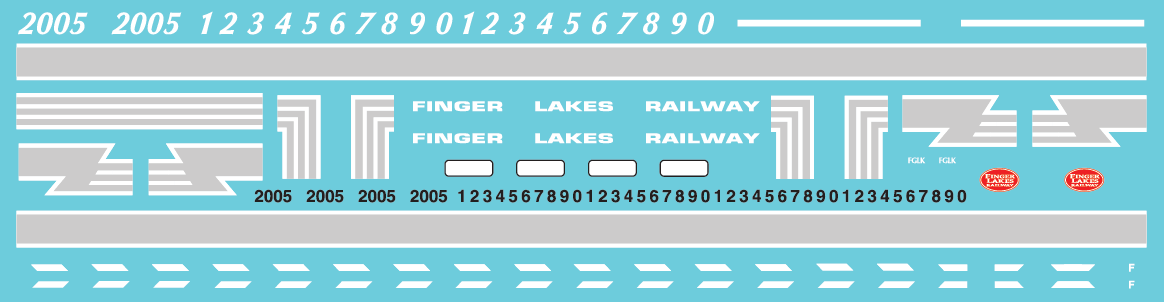 Finger Lakes Railway GP38 - Alternate Lettering Style (2019+) Decal Set