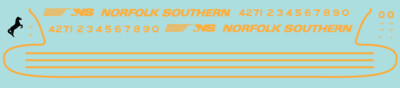 Norfolk Southern (NS) OCS F Unit Decals