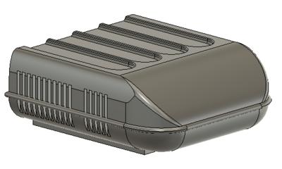 Z Scale Train Parts - RV Style Air Conditioner Unit (Qty 8)