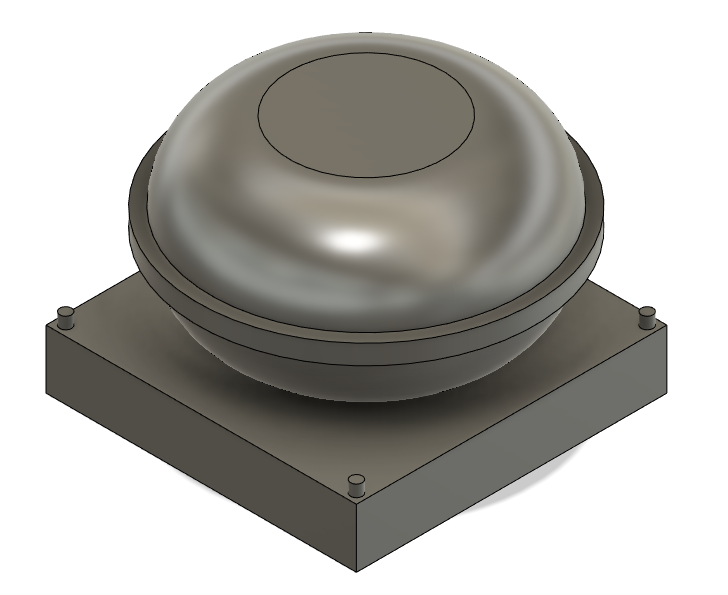 N Scale Train Parts - Small Round GPS Dome (Qty 6)
