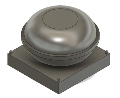 HO Scale Train Parts - Small Round GPS Dome (Qty 4)