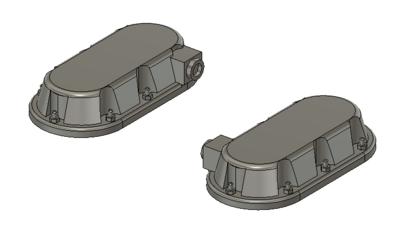 HO Scale Train Parts - Wabtec Small PTC Antenna (Qty 2)