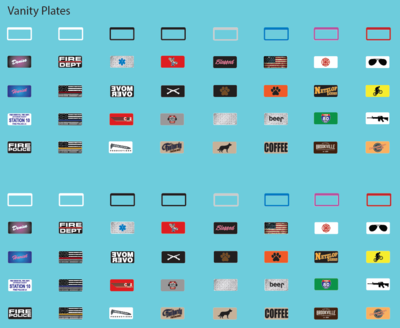 US Vanity License Plates