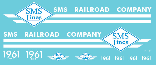 SMS Lines B23-7 #1961 Decal Set