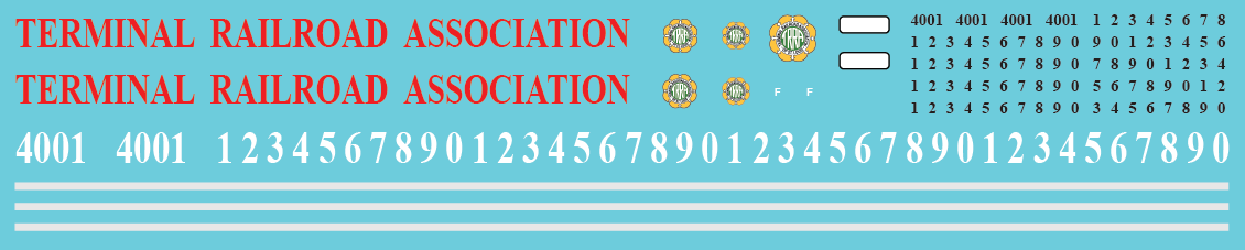 Terminal Railroad Association (TRRA) SD60i Decal Set