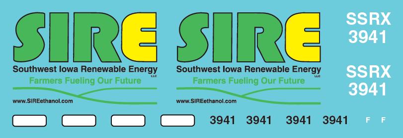 Southwest Renewable Energy SD70MAC (SSRX) Decal Set