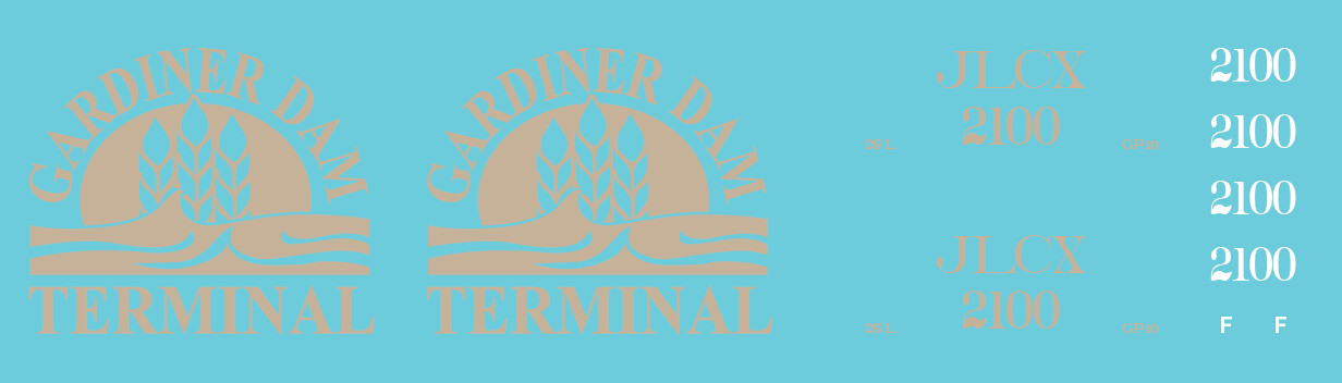 Gardiner Dam Terminal - JLCX 2100 Locomotive Decal Set
