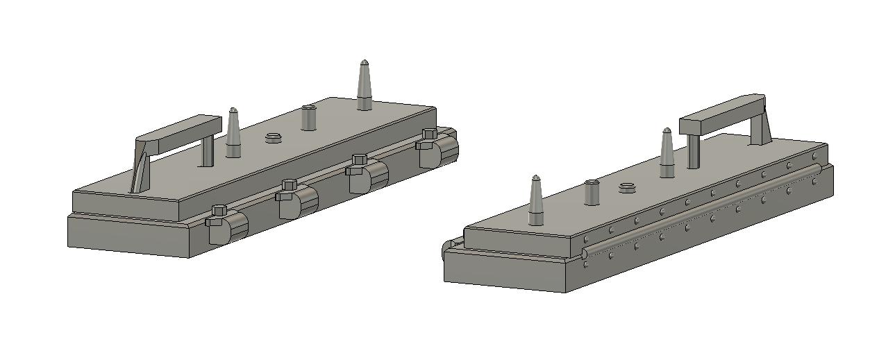 LinkUp Small 3 Piece PTC HO Scale Train Parts Qty 1