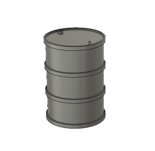 N Scale Detail Parts - 55g Steel Drum Detail Part (Qty 5)