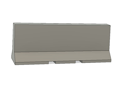 N Scale Detail Parts - Jersey Barrier 10ft (Qty 4)
