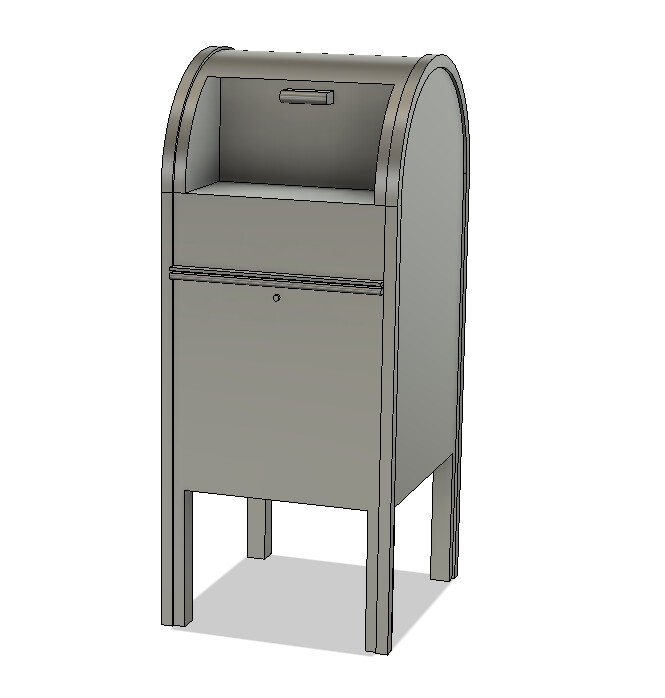 N Scale Detail Parts - Mailbox (Qty 2)