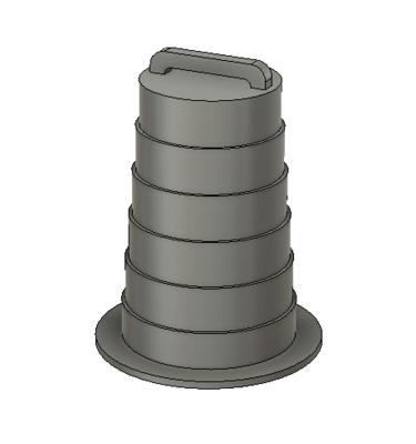 N Scale Detail Parts - Plastic Construction Barrel Detail Part (Qty 5)