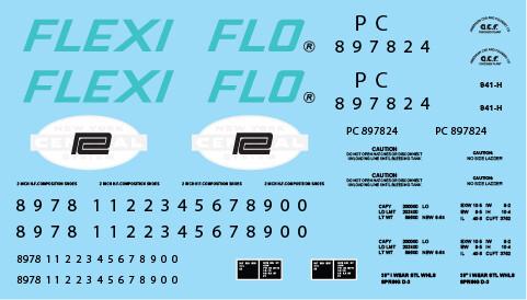 Penn Central Flexi-Flo Covered Hopper Decals (PC)