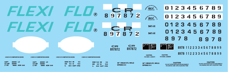 Conrail Flexi-Flo NYC Patch Out Covered Hopper Decal Set