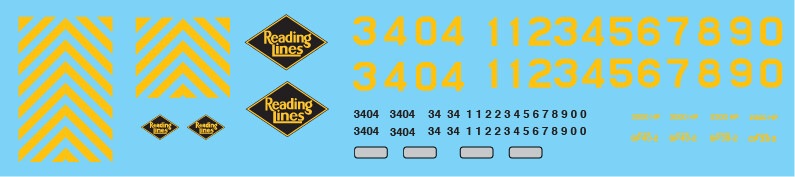Reading Railroad (RDG) GP39-2 & GP40-2 Decal Set
