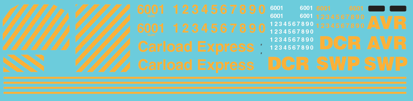 Carload Express SD60M Locomotive Decals