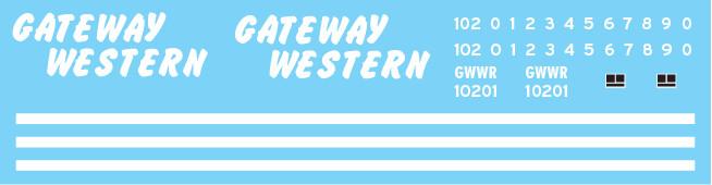 Gateway Western (GWWR) Red/White Caboose