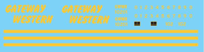 Gateway Western (GWWR) Black/Yellow Caboose