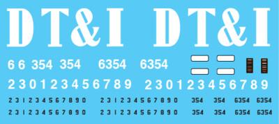 Detroit Toledo & Ironton (DTI) Big Letter GT Patch out