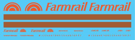 Farmrail Caboose Decal Set
