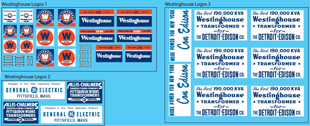 Westinghouse Logo Decal Sets