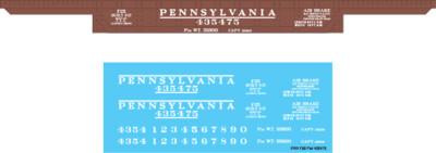 Pennsylvania Railroad F25 Flat Car #435475Decal Set